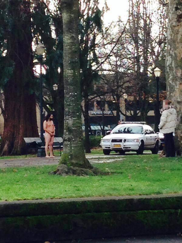 Naked man steals police Taser after stripping off in park