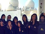 Kendall Jenner and Gigi Hadid cover up in hijabs for a visit to Abu Dhabi mosque