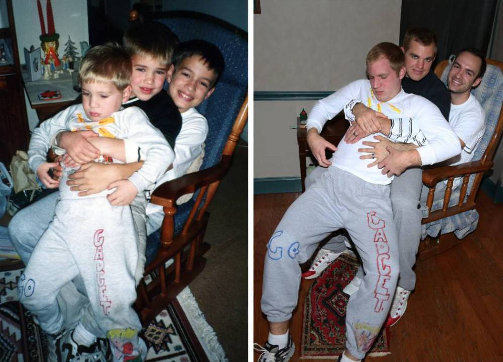 Three brothers recreate childhood photos – the results are priceless