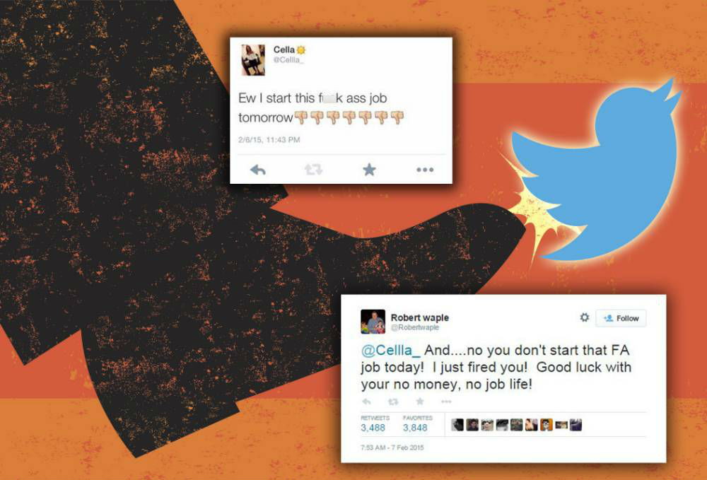 A girl was fired on Twitter before she even started her job