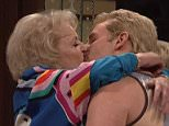 Betty White, 93, and Bradley Cooper, 40, share a passionate smooch for hilarious skit on SNL