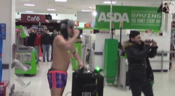 This supermarket rave is exactly how you liven up Asda on a Monday night