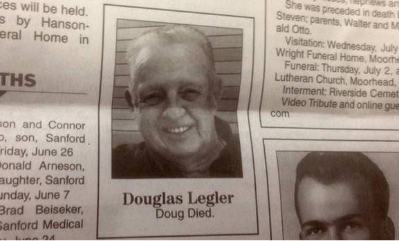 This is the simplest obituary ever, and it's brilliant because of that
