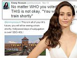 Emmy Rossum responds to anti-semitic tweets from Trump supporters