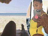 Serena Williams lounges on the beach in Instagram photo