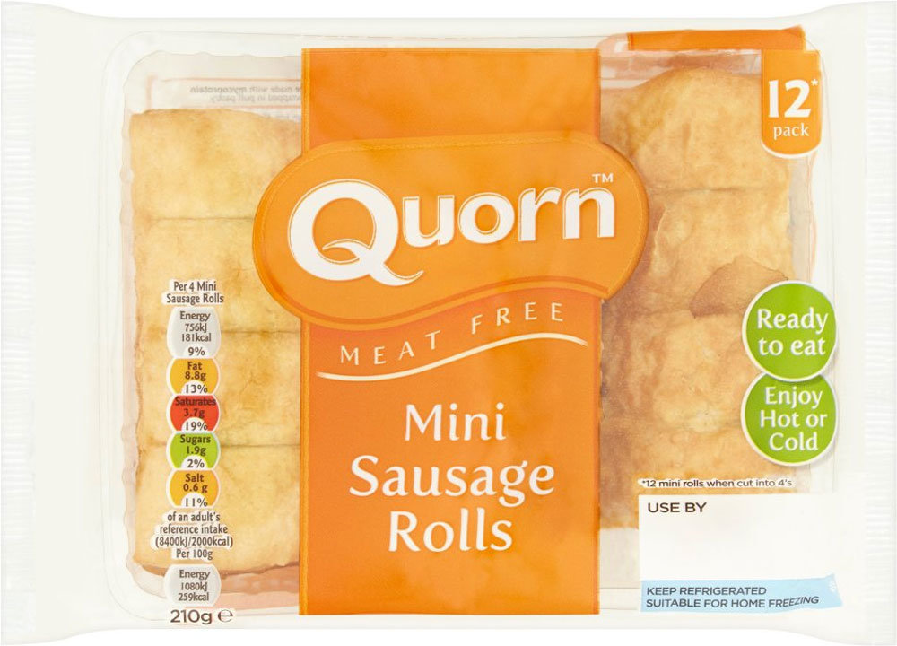Controversy Over '12-Pack' Of Sausage Rolls Prompts Quorn To Change Packaging*