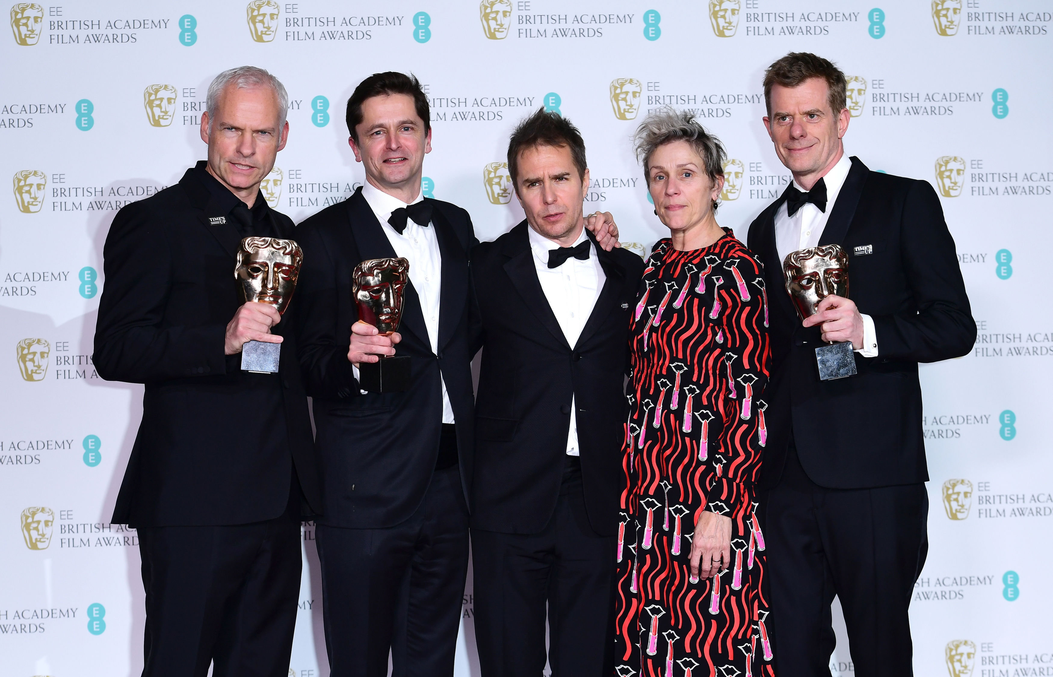 Baftas Winners List 2018: 'Three Billboards' Leads With Five Accolades