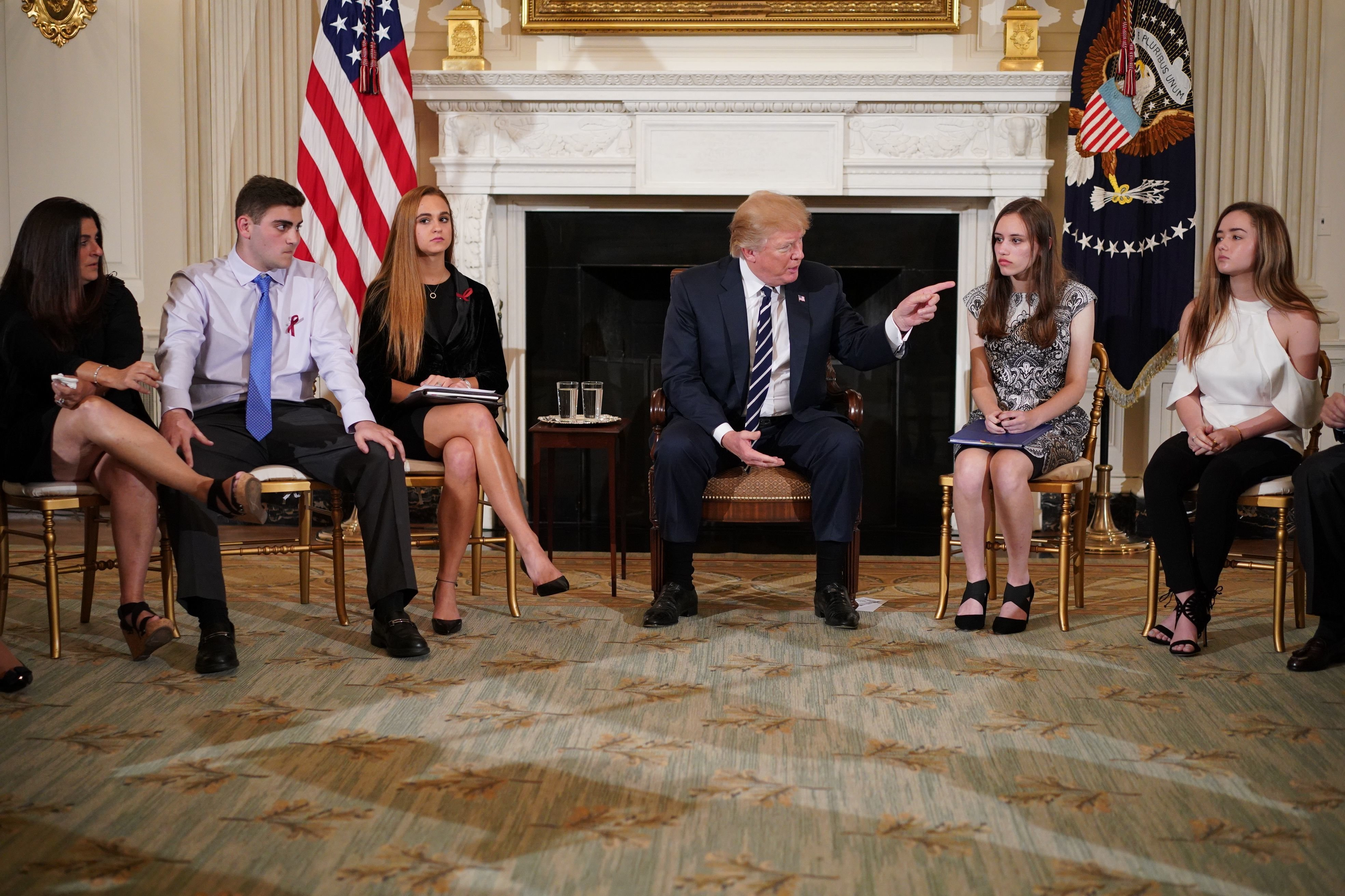 Tearful Scenes As Donald Trump Talks To Florida Shooting Students At White House