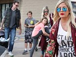 Tori Spelling and Dean McDermott receive police escort out of diner