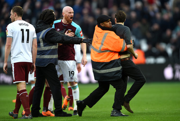 West Ham Match Against Burnley Descends Into Chaos As Fans Storm Pitch, Police Investigating
