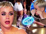 Katy Perry is overcome with emotion during American Idol audition