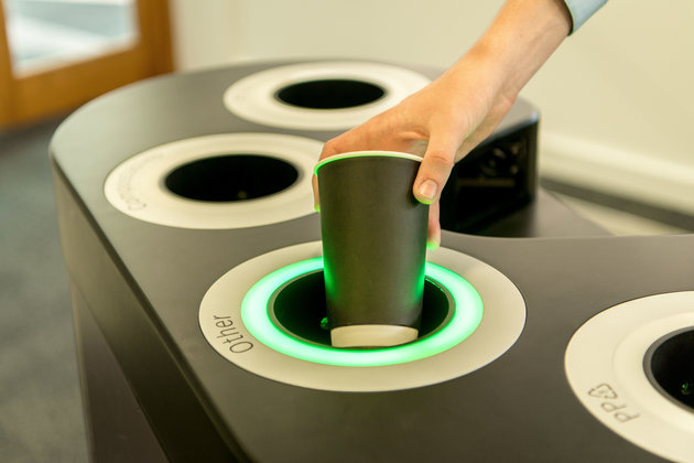 This Smart Recycling Bin Can Detect What Your Rubbish Is Made Of