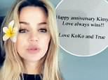 Khloe Kardashian ditches Tristan Thompson from anniversary card sent to Kim amid claims of arguing