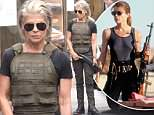 Terminator PICTURE EXCLUSIVE: Linda Hamilton is seen on set for first time