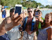 Simon Cowell Looks Less Than Impressed As Fans Queue Up For A Selfie As He Holidays In Barbados With Lauren Silverman (PICS)