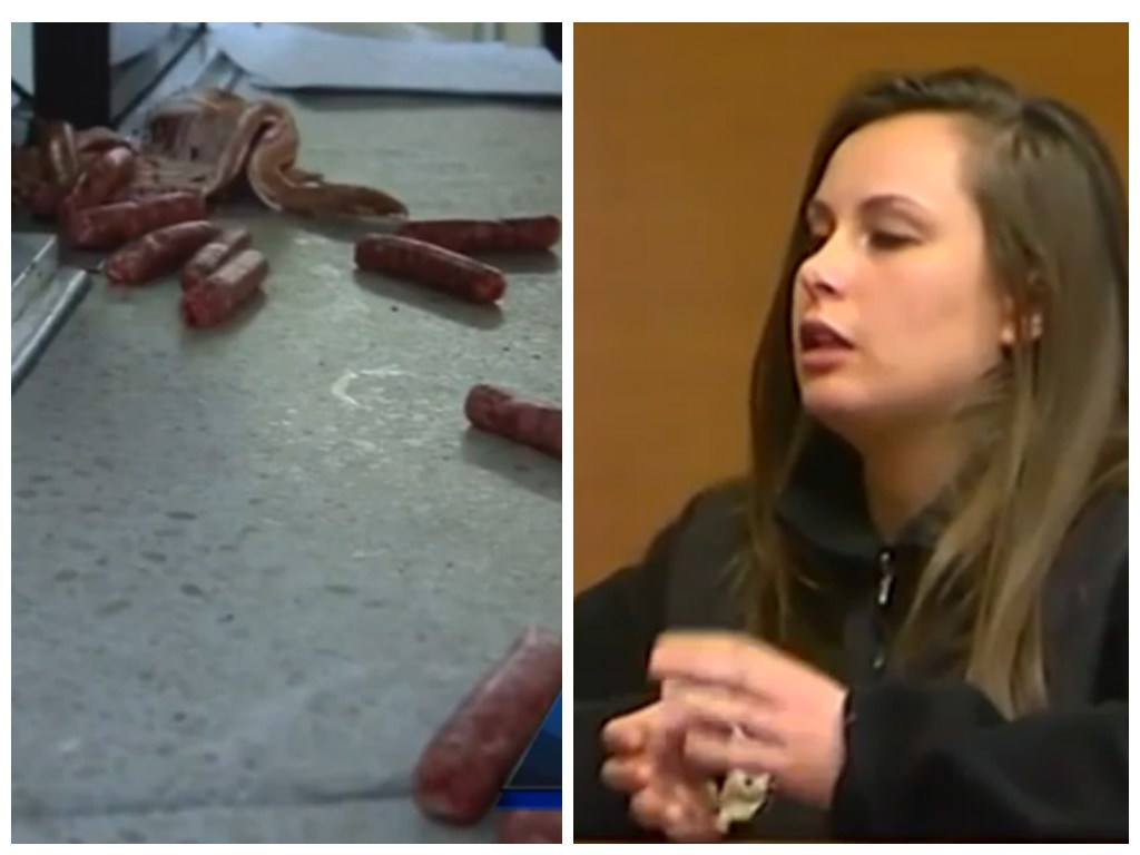 'God told me to feed the pigs': Woman charged with throwing sausages and bacon at police
