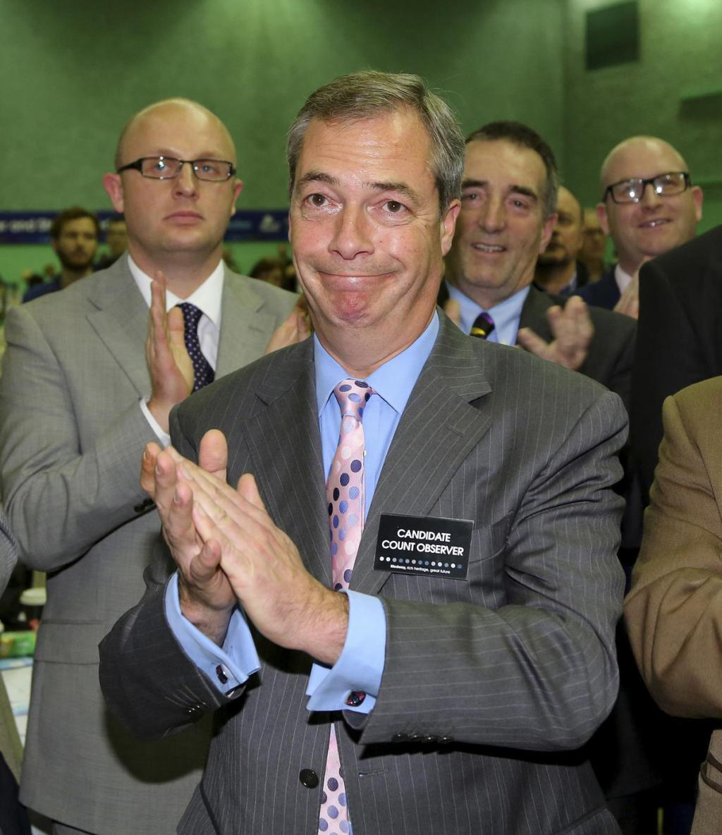 People are voting for Nigel Farage as 'Rear of the Year'