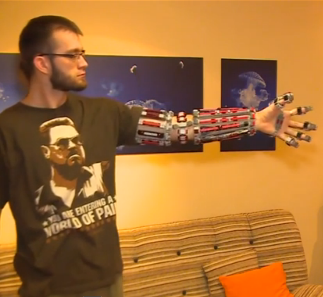 This guy made a bionic 'Iron Man' arm entirely out of lego