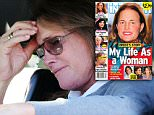 Bruce Jenner shows the strain as he puffs on a cigarette after 'mean' magazine adds lipstick to cover photo and claims he would come out as 'transwoman' in 2015