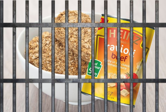 Hungry criminal breaks into police station and cooks up Weetabix, milk and Ravioli recipe