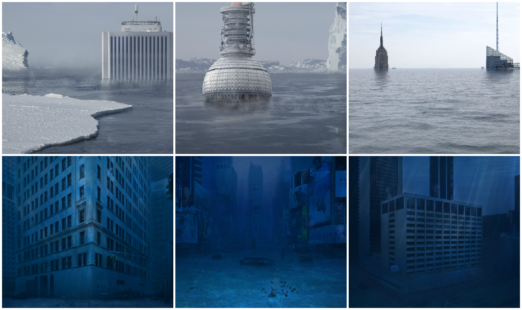What the world would look like if water wiped out humanity