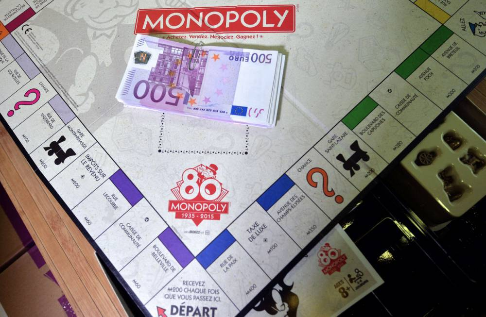 Some Monopoly sets are going to use real money