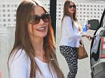 Sofia Vergara covers her figure in oversized white top as it's revealed 'she and fiance Joe Manganiello have found a surrogate'