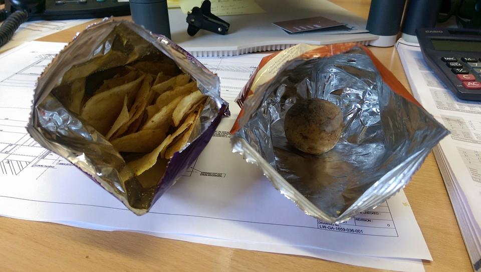 Unlucky customer finds a full, uncooked potato in his crisp packet (but no crisps)