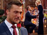 Bachelor Chris Soules drops to one knee in his Iowa barnhouse as he proposes to Whitney Bischoff on season finale