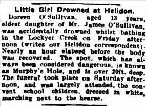 Is this the ghost of a little girl who drowned in that exact spot 100-years-ago?