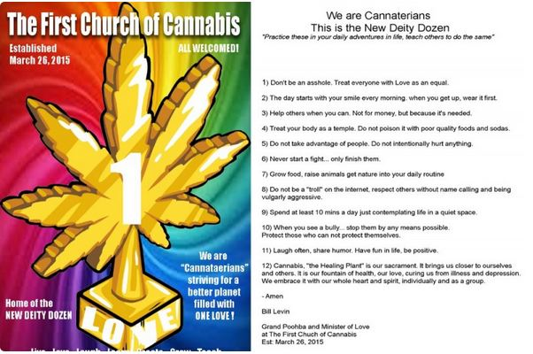 Someone's established the first Church of Cannabis