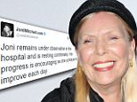 Joni Mitchell's condition improves in hospital after she was found unconscious