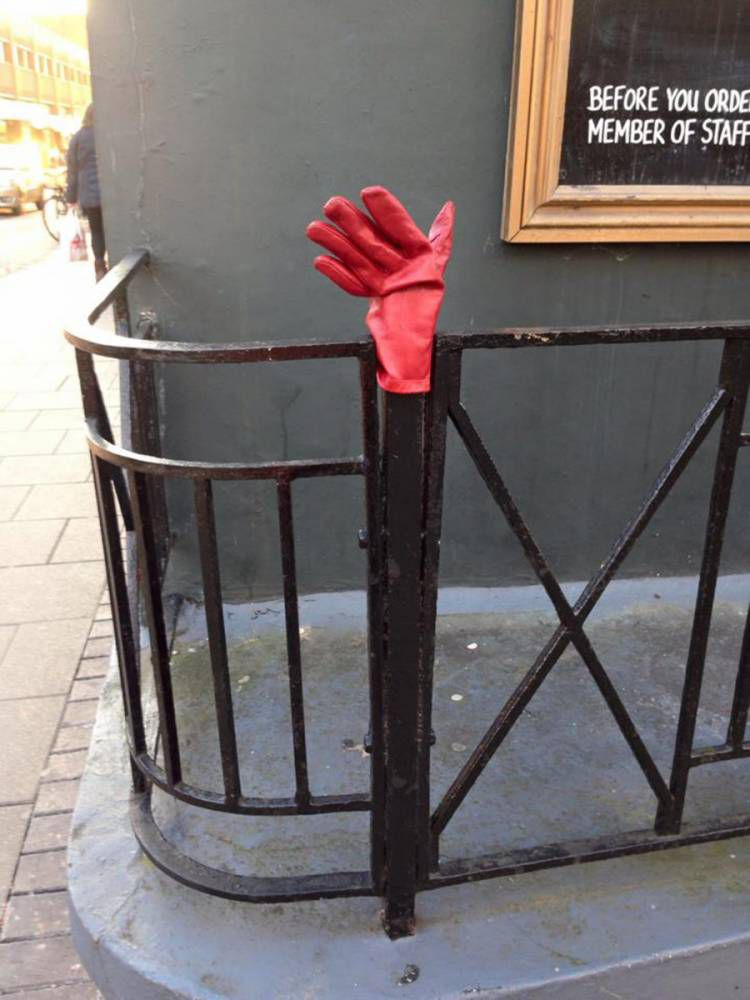 Found a lost glove? Take a pic and send it to this guy