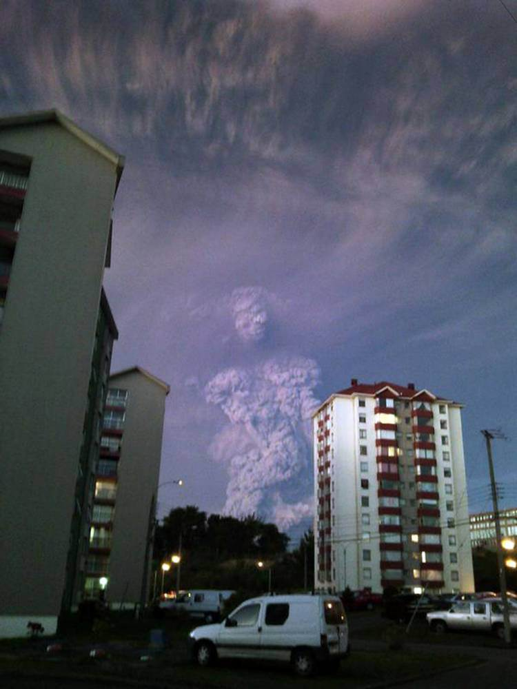 Mysterious human figure of 'God' forms in clouds following Calbuco volcano eruption
