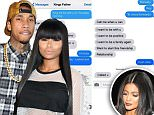Blac Chyna shares texts from ex Tyga that make is seem like he wants to reconcile… same day he's with Kylie Jenner
