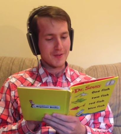Reading a kid's book with Speech Jammer – Not easy