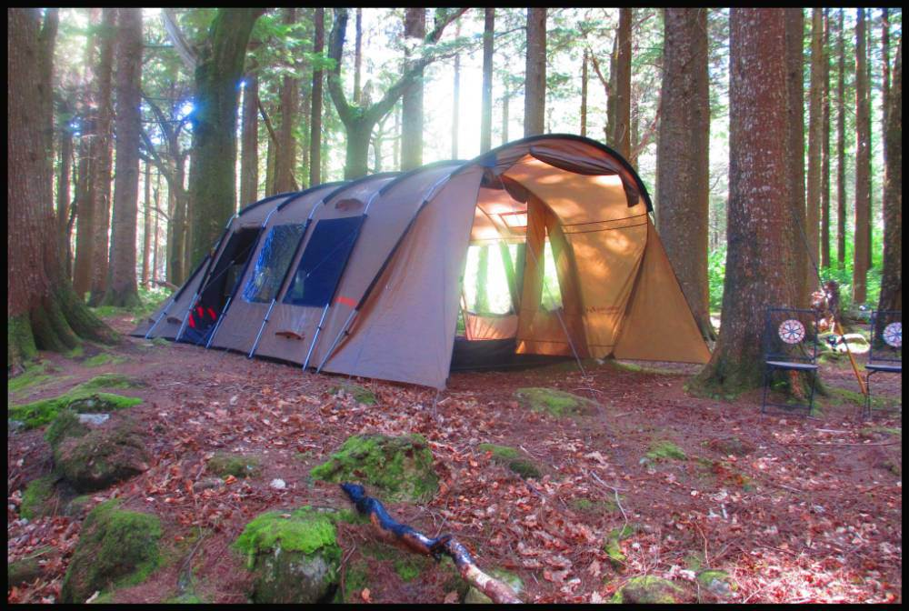 Amazing tent that's cool in summer, hot in winter and blocks out sound