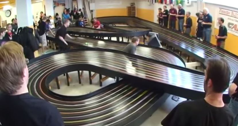 These slot cars are seriously fast and will put your scalextric set to shame