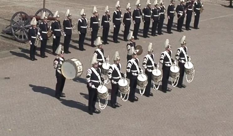 Swedish army brass band play Swedish House Mafia for the King of Sweden's 70th birthday