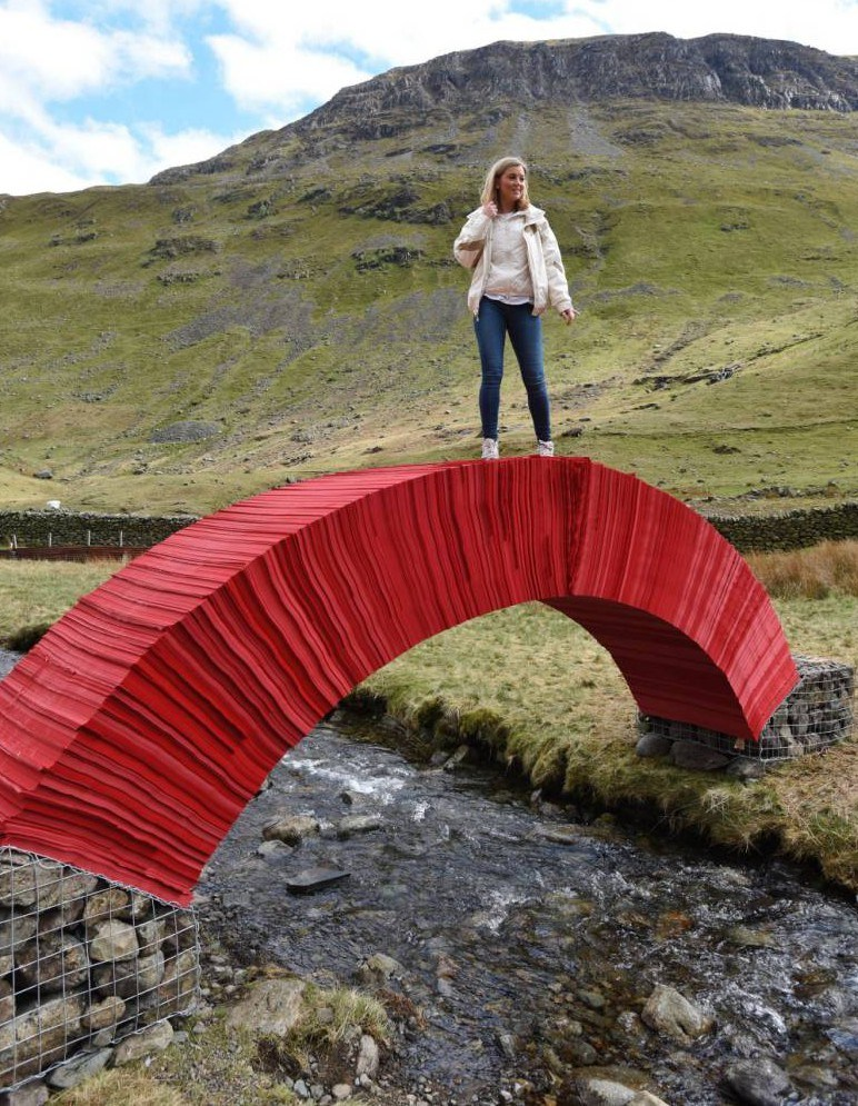 Are you brave enough to walk on this bridge made of paper?