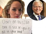 Jennifer Lawrence leads tributes to David Letterman as they say goodbye