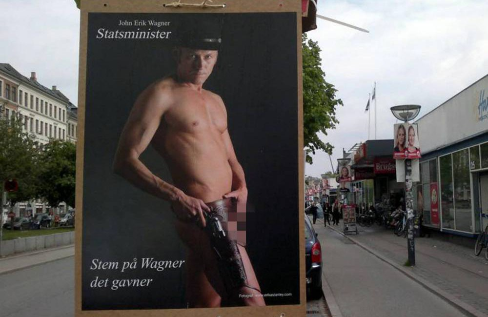 Wagner's got his wanger out: Danish politician poses nude for election campaign