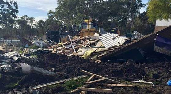 Man 'steals bulldozer and flattens a house with it'