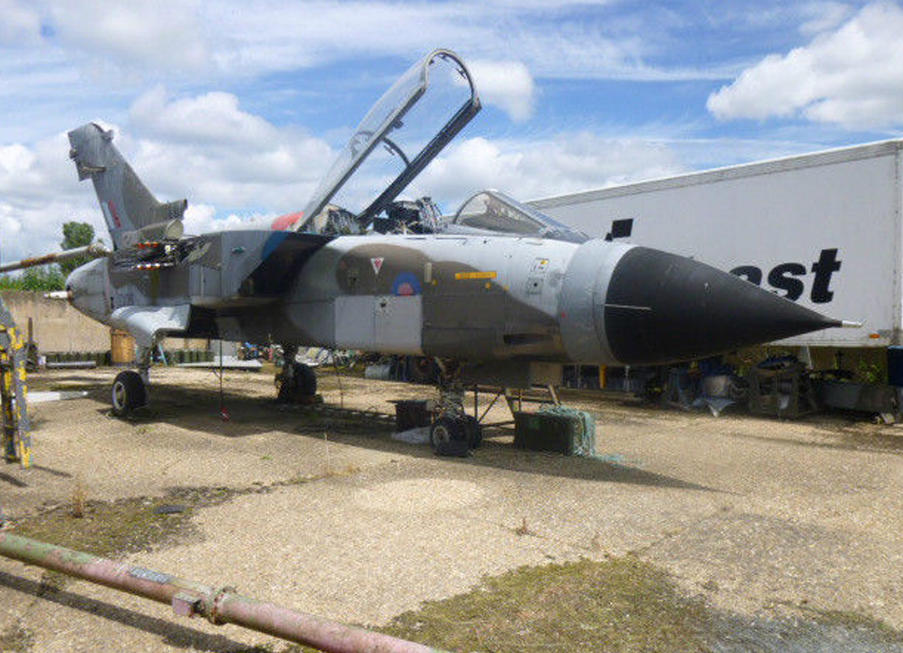 A couple are selling a £20,000 Gulf War jet they spent six years rebuilding