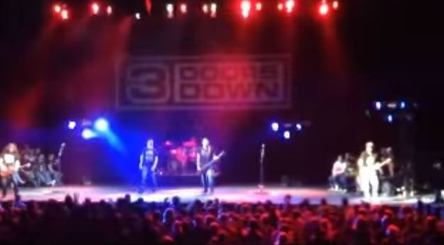 3 Doors Down singer kicks fan out of gig after he hit a woman