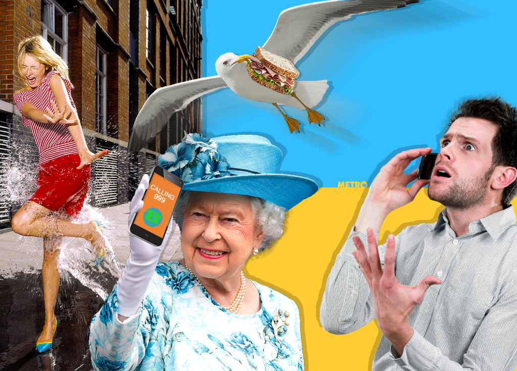Do sandwich-stealing seagulls and puddle splashes really require a 999 call?