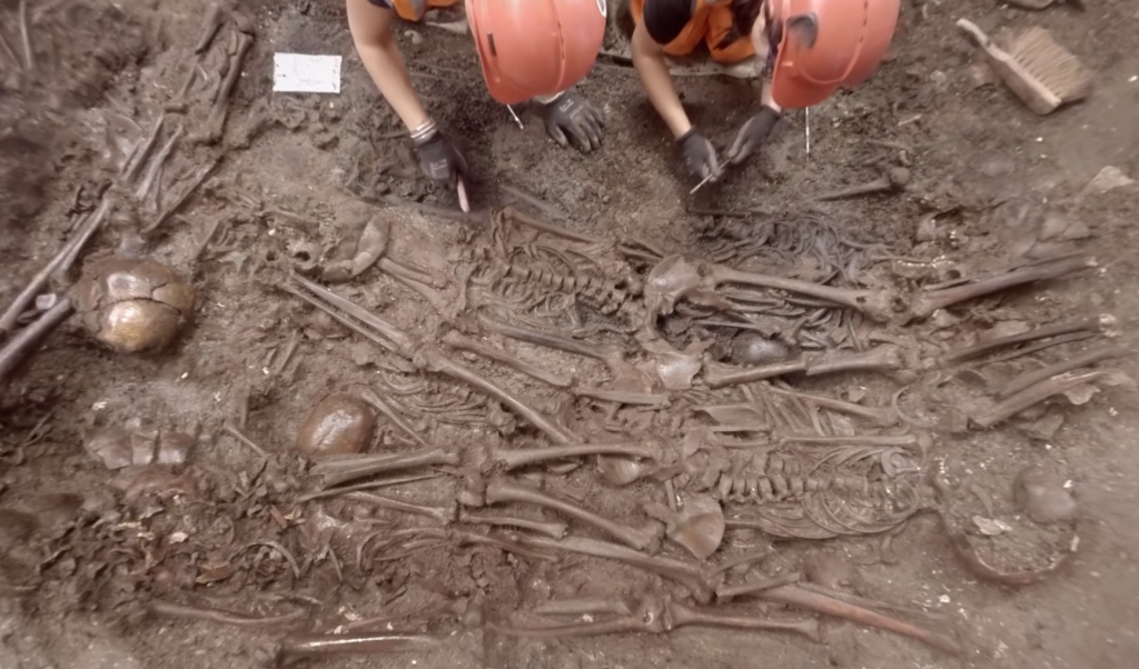 Check out this interactive video of archaeologists working on the Crossrail grave site