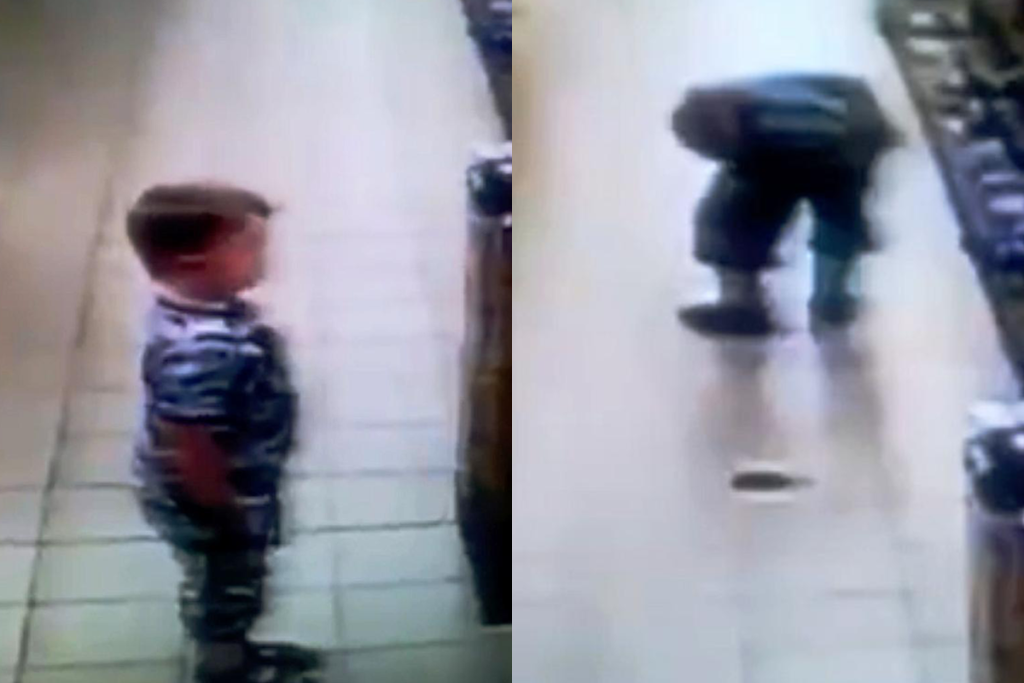 A child took an impressively stealthy poo in the middle of a supermarket
