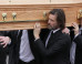 Jim Carrey Carries Cathriona White's Coffin At Her Funeral In Co Tipperary, Ireland