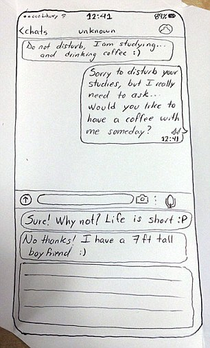 Student asks out a girl using this hand-drawn WhatsApp 'message'